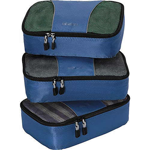 eBags Small Packing Cubes for Travel - Organizers - 3pc Set - (Denim)