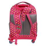 J World New York Girls' Sunslider Spinner Fashion Backpack, Pink Buttons, One Size