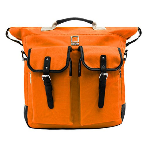 "Lencca Phlox Laptop Messenger Bag for Lenovo IdeaPad 15"" inch Laptop Tab(Orange)"