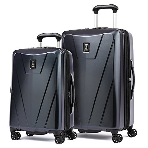 "Travelpro Maxlite 4  2 Piece Hardside Set (21"" And 25"" Hardside Spinners), Navy And Black"