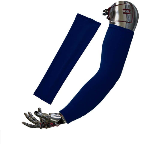 FakeFace UV Protection Sports Arm Sleeves for Outdoor Activties Bike Hiking Golf Jogging Fishing Running Riding Basketball Driving - Navy