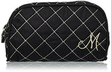 Kate Aspen Cosmetic Couture Quilted Monogrammed Make-Up Bag, Letter M