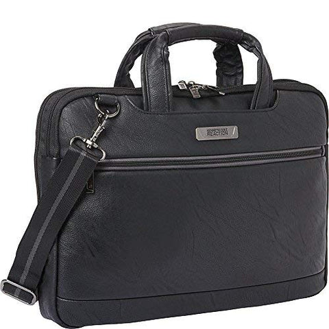 Kenneth Cole Go With The Grain 2.5in Double Gusset Top Zip Slim Computer Case Ho