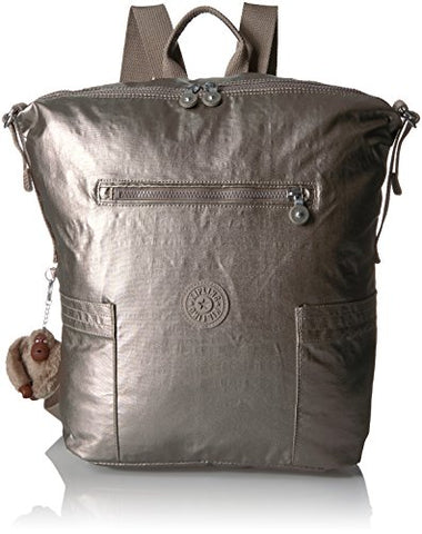 Kipling Women'S Cherry Metallic Backpack, Metallic Pewter
