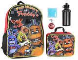 "Five Nights At Freddy's 16"" School Backpack Lunch Box Water Bottle Lunch Kit -5 Piece Set"