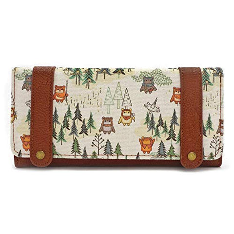 Loungefly Star Wars Ewok Forest All Over Print Tri Fold Wallet, Multi, Medium