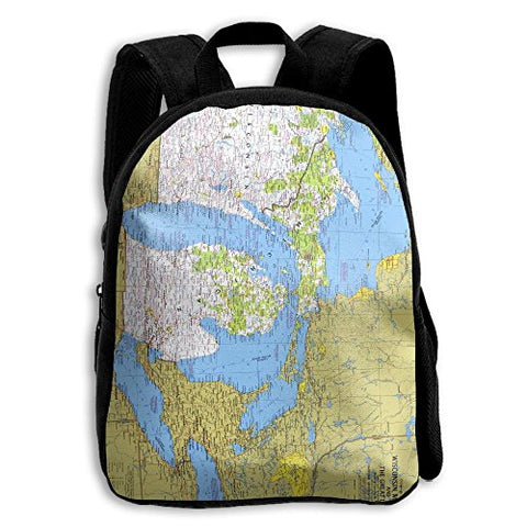 Jhxzml National Geographic Wisconsin Michigan And The Great Lakes Map Student School Backpack