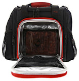 6 Pack Fitness Insulated Meal Prep Bag, Mini Innovator Black/Red w/Bonus ZogoSportz Cyclone Shaker