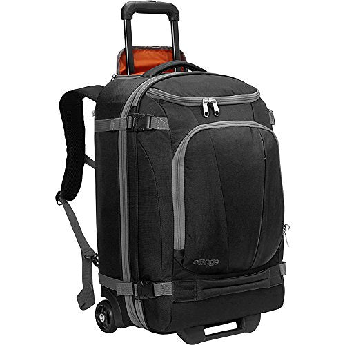 "eBags TLS Mother Lode Rolling Weekender 22"" Travel Backpack with Wheels - Carry-On - (Black)"