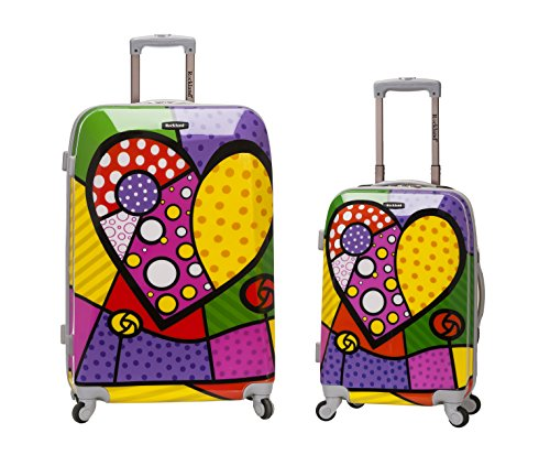 Rockland 2 Piece Upright Luggage Set, Heart, One Size