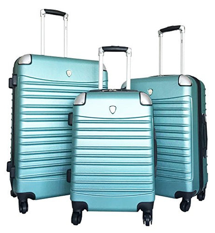 3Pc Luggage Set Hardside Rolling 4Wheel Spinner Carryon Travel Case Abs Green Mint