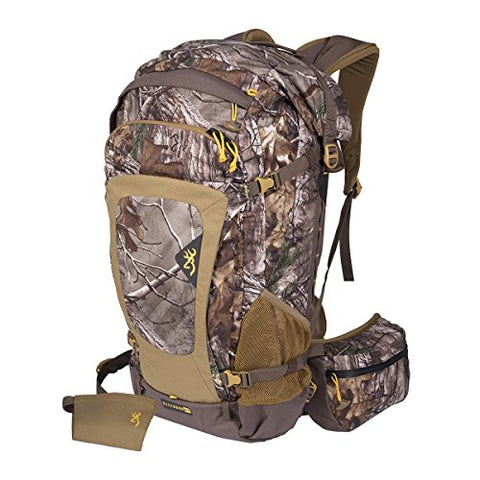 Browning Buck2500 Hunting Day Backpack, Realtree Camo, Teak/Desert Sage, Baumshell Fabric,