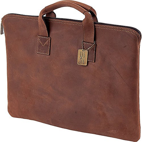 Claire Chase Rustic Folio With Handle Briefcase, Rustic Brown, One Size