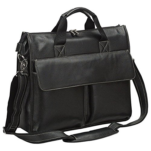 Bellino Leather Briefcase Black