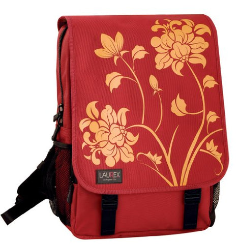 Laurex Medium Laptop Daily Backpack - Red Blossom. Red. One Size.