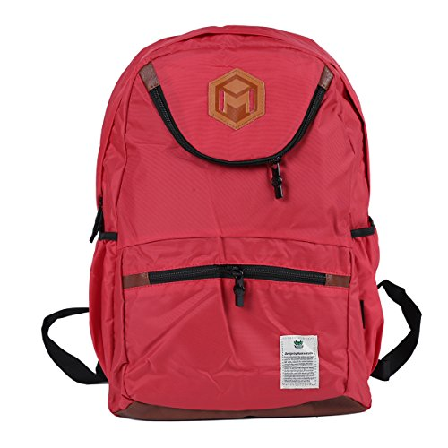 Damara Womens Sporty Versatile Multilayer Laptop Computer Backpack,Red