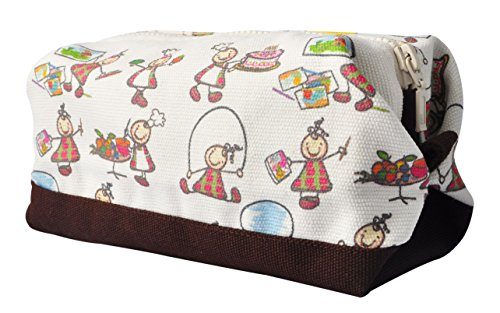 Vietsbay'S Women Kids Worldprint 1 Canvas Toiletry Bag Makeup Cosmetic Pouch