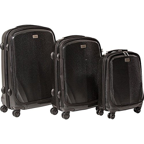 The Set Of Classic Black Cased One Hard Case Luggage 3-Piece Luggage Set