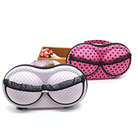 2Pcs Travel Home Organizer Zip Bag Case Bra Underwear Lingerie Case Storage Bag