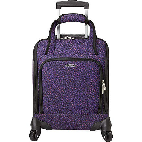 American Tourister Lynnwood 16 Inch Underseat Spinner Carry-On Luggage With Wheels - (Purple Print)