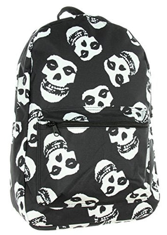 Misfits Backpack Skull Punk Rock Album Logo