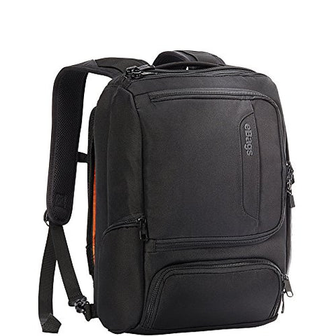 "eBags Professional Slim Junior Laptop Backpack for Travel, School & Business - Fits 15.75"" Laptop - Anti-Theft - (Solid Black)"