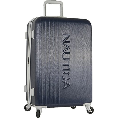 Nautica Lifeboat 24 Inch Hardside Expandable Suitcase, Classic Navy