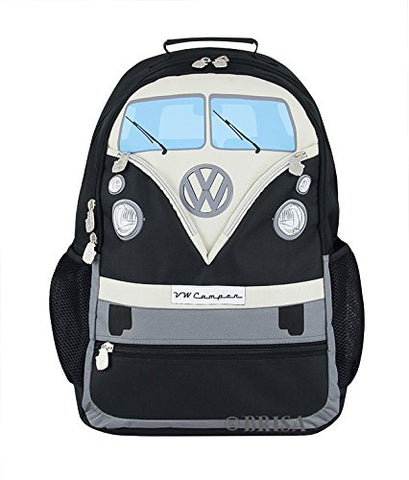 Vw Collection By Brisa Backpack With Vw Bus T1 Front Design (Black)