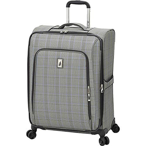 "London Fog Knightsbridge Ii 25"" Expandable Spinner, Grey Sapphire Plaid"