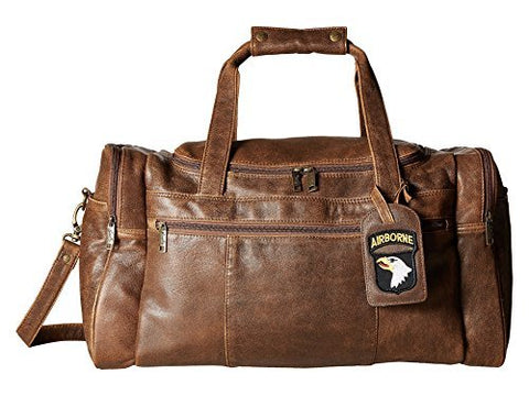 Scully Unisex Squadron Duffel W/ 81 Aero Squadron Luggage Tag Antique Brown One Size