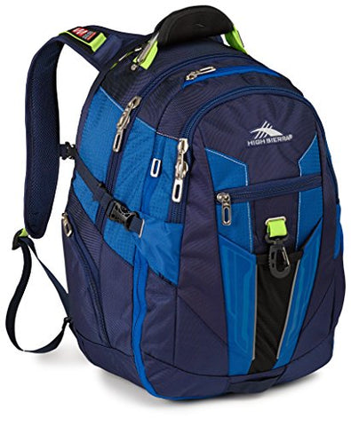 High Sierra Xbt Laptop Business Backpack, True Navy/Royal Cobalt/Chartreuse