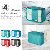 Coolife Packing Cubes Travel Organizers with Laundry Bag 7 Set Hanging Toiletry Bag Portable
