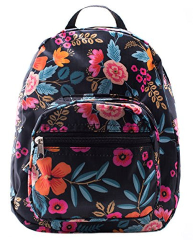 Mini Backpack - Floral Print - Blue
