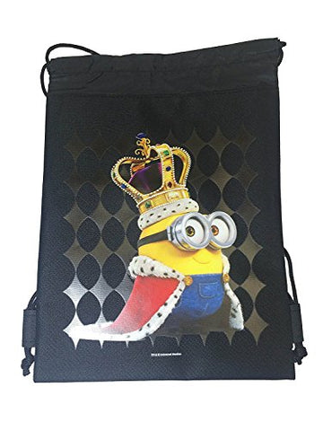 Despicable Me Minion Drawstring Backpack (Black)