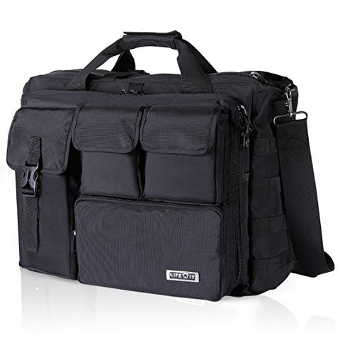 "Lifewit 17"" Men's Military Laptop Messenger Bag Multifunction Tactical Briefcase Computer"