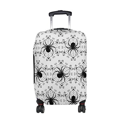 GIOVANIOR Halloween Black Spider Web Luggage Cover Suitcase Protector Carry On Covers