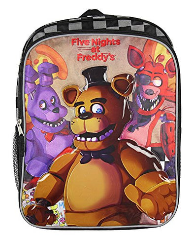"Five Nights at Freddy's 16"" Backpack with Side Mesh Pockets"