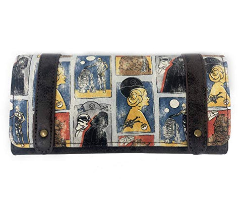 Loungefly x Star Wars Cards Clasp Wallet (Multicolored, One Size)