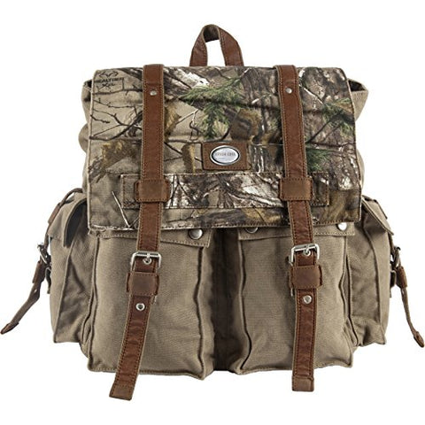 Canyon Outback Urban Edge Porter Realtree Xtra Canvas Backpack, Camouflage, One Size
