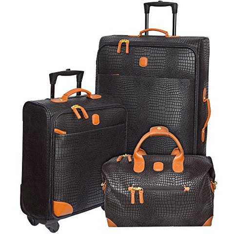 Bric's My Safari International Travelers Luggage Set (Black)