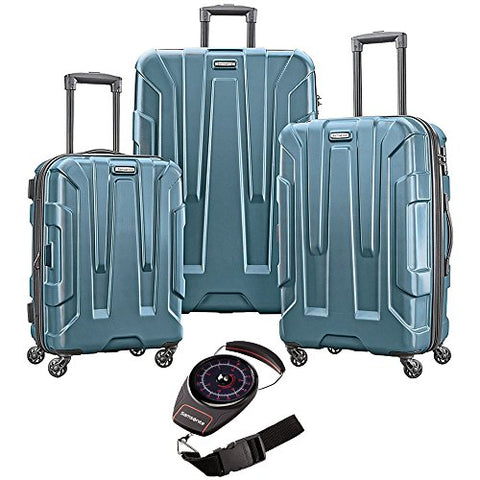 Samsonite Centric 3Pc Hardside Luggage Set Teal With Portable Luggage Scale