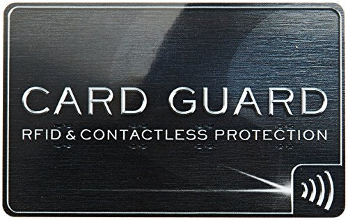 Design Go RFID Card Guard, Black, One Size