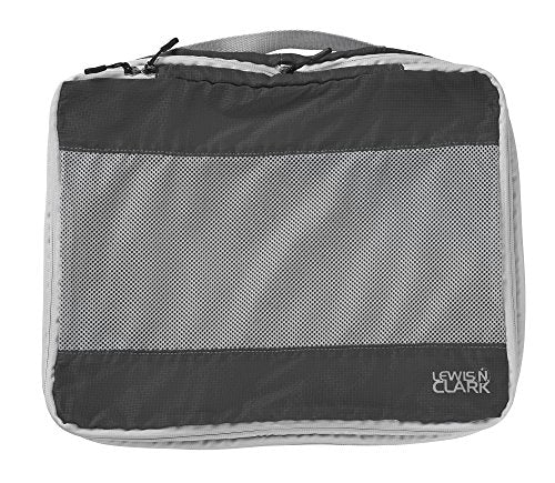 Lewis N Clark Electrolight Packing Cube Large, Charcoal, One Size