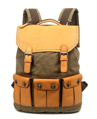 The Same Direction Valley River Backpack Leather and Canvas Bag