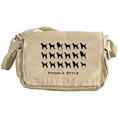 CafePress - Poodle Styles: Black - Unique Messenger Bag, Canvas Courier Bag