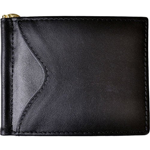 Royce Leather Rfid Blocking Money Clip Credit Card Wallet in Leather, Black