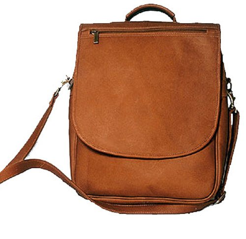 David King & Co. Vertical Expandable Portfolio Backpack, Tan, One Size