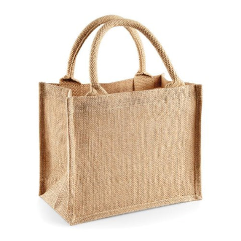 Westford Mill Jute Mini Gift Bag - Natural