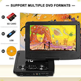 "DR. J 11.5"" Portable DVD Player with HD 9.5"" Swivel Screen, Rechargeable Battery with Wall Charger, Car Charger and AV Cable, Sync TV Projector Function, Support USB Flash Drive SD Card, Region Free"