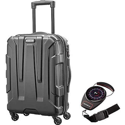 Samsonite 92794-1041 Centric Hardside 20 Carry-On Luggage Spinner, Black with Portable Luggage